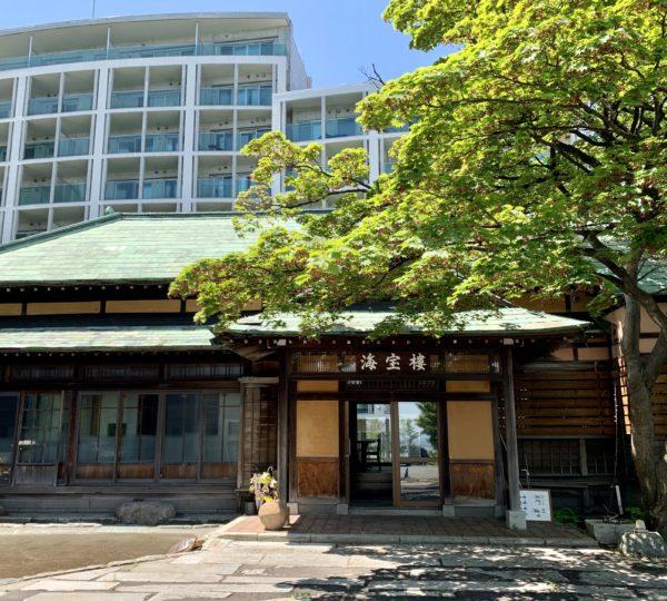 小樽市の旅館にラミネート仕上げの戸を設置